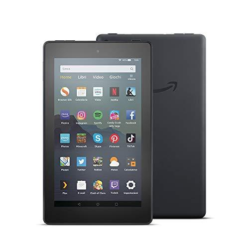 Tablet Fire 7, Ricondizionato Certificato, schermo da 7 , 32 GB, Nero, Con pubblicità