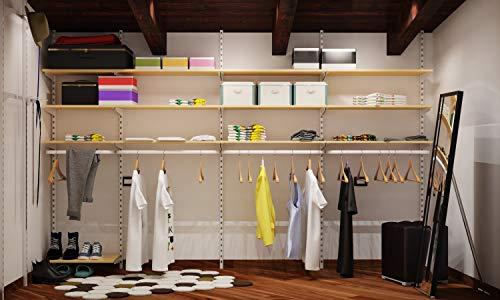 Cabina armadio guardaroba arredamento negozi appenderia ripiani KIT ARREDAMENTO NEGOZIO 6 m² COMPLETO COMPONIBILE