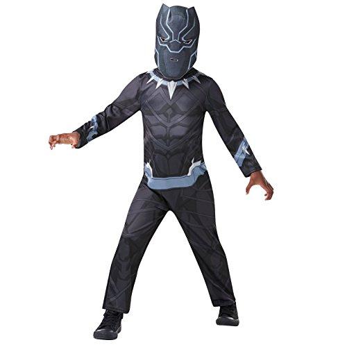 Rubie's Black-Panther-kostuum van Marvel Avengers, voor kinderen van 9 tot 10 jaar, 640908 9-10
