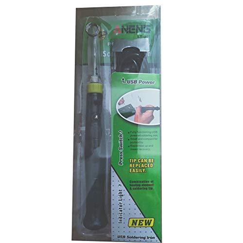 WEFH ANENG LT001 5V 8W Herramienta de Soldador Ajustable con alimentación eléctrica USB portátil, Verde