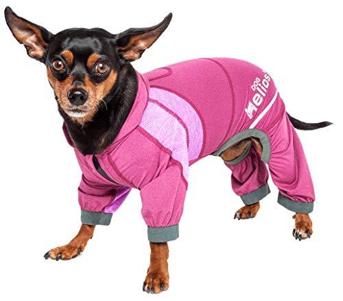 Dog Helios 'Namastail' Breathable Full Body Yoga Dog Hoodie Tracksuit -$13.79(80% Off)