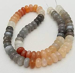 Jewel Beads Natural Beautiful jewellery 1 strand MULTI MOONSTONE smooth beads rondelles beads,size - 7.5 mm to 8 mm, 14 inch strand [E0865] Multi moonstone beadsCode:- JBB-8316