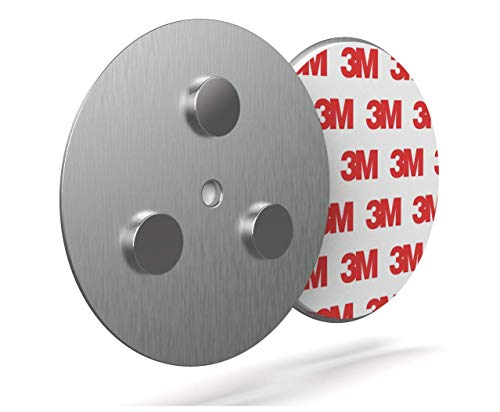 Rauchmelder Magnethalter [10 Stück] - Ø 70mm für Feuermelder ohne Bohren Universelle Magnethalterung für Rauchmelder Starke 3M Klebe-Folie
