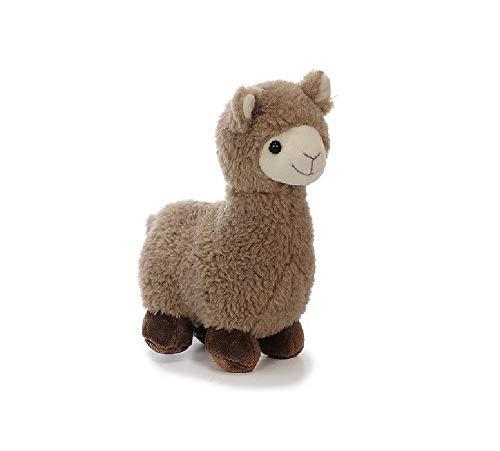 Bavaria Home Style Collection Lama Alpaka - ca 20 cm - Farbe Braun oder Beige - Plüsch, Plüschtier, Plüschlama, Kuscheltier , Kuscheltier für Kinder Spielzeug (braun)