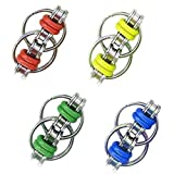 glacely 4 Pack Fidget Flippy Chain Toy Relieves Stress, Anxiety and Boredom at Work, Home or School for Kids Students Adults - Great for ADD, ADHD and Autism