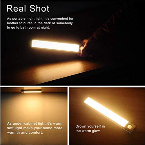 Tragbarer LED-Bewegungsmelder für schwache Lichtverhältnisse beleuchtet kabelloses Netzwerk zum Aufkleben, LED-Lichtleiste