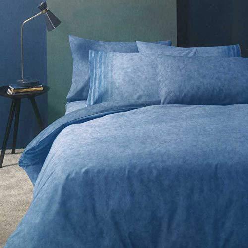 Bassetti Lint B1 - Juego de funda nórdica para cama individual, 155 x 200 cm, con fundas de almohada dobles