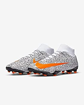 Nike Mercurial Superfly VII Academy CR7 Firm Ground Cleats  10  White/Black/Orange