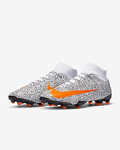 Nike Mercurial Superfly VII Academy CR7 Firm Ground Cleats (9) White/Black/Orange