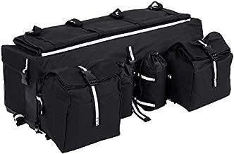 ATV Saddle Bag Gear Bags Snowmobile Bag ATV Rear Rack Bag Luggage Storage Gear Pack for Motocross Snowmobile, 26.8 x 10.6 x 8.3in