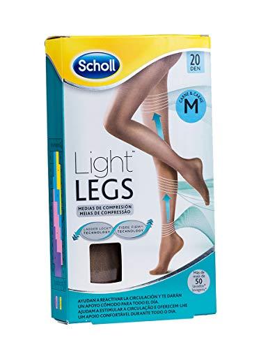 Scholl Medias de Compresión Ligera Mujer Light Legs 20DEN, Color Carne, M