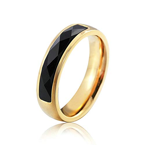 Beglie Ringe für Herren Trauringe Aus Edelstahl Herren Ringe Metal Dünner Kreis Verlobungsring Biker Ring mit Zirkonia Retro Siegelring Biker Ringe Gravur Silber 52 (16.6)