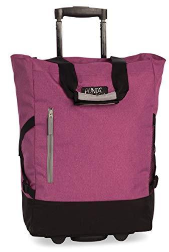 Fabrizio Einkaufstrolley Punta Wheel-Shopping-Roller 52 cm 36 Liter 2 Rollen Pink