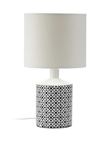 Mathias 3418012 LAMPE LISBOA BLANC D22 H40, Céramique, E14, D22-H40 cm