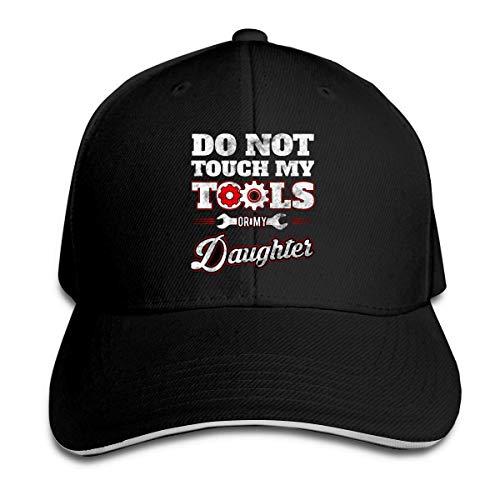 Preisvergleich Produktbild NA Berühren Sie Meine Werkzeuge oder Tochter Trucker Baseball Cap Peaked Sandwich Hut