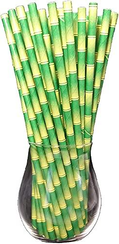 Adiya Bandejas De Papel De Bambú De 100 Piezas, Paja De Papel, Pajitas Desechables, Biológicas, Alimentos Seguros, Ambiental Taza para Beber