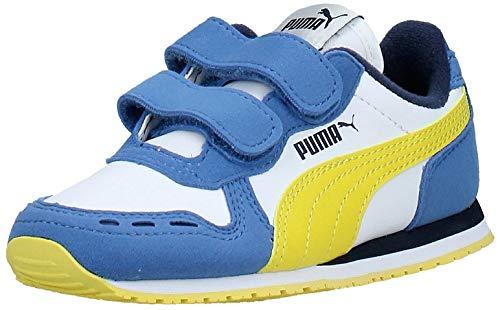 Puma Unisex Kinder Cabana Racer Sl V Ps Sneaker, Weiß White-Bright Cobalt-Meadowlark, 33 EU