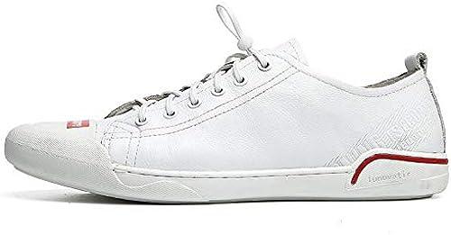 LOVDRAM Chaussures Hommes Joker Printemps Chaussures Blanches Chaussures De Sport pour Hommes Occasionnels Chaussures De Sport en Cuir Noir Mode Chaussures pour Hommes