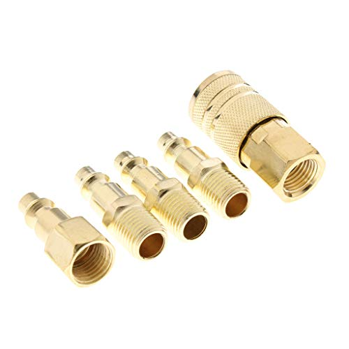 5 pcs Druckluft Kupplung Stecknippel Schnellkupplung Schlauchanschluss Stecker Adapter