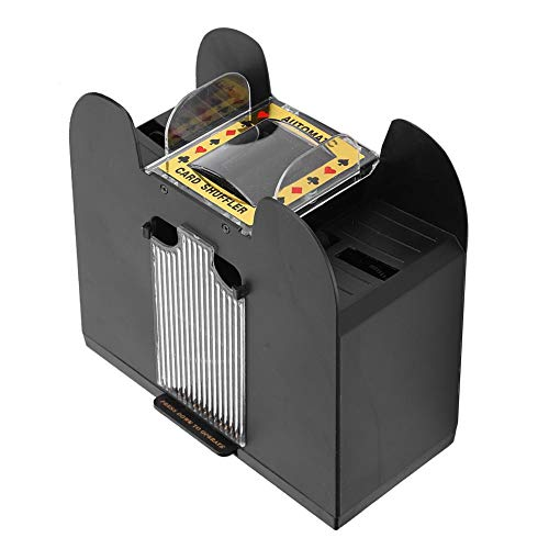 Naroote Card Shuffler, 6 Deck Card Shuffler Handy and Durable Card Shuffler 6 Deck Shuffler, Outdoor Other Home Card Games for Family Poker Games