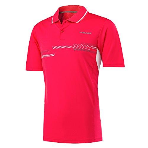 HEAD Jungen Club Technische Polo Shirt XL rot
