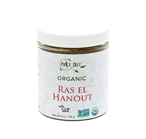 The Spice Hut Organic Ras El Hanout Seasoning, Authentic North African Spice Blend, 4 Oz
