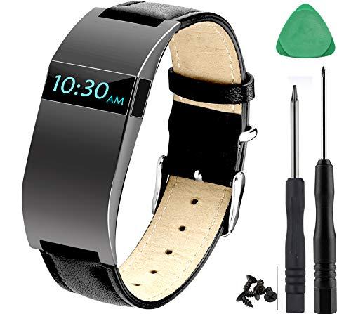 Gocybei Sangle de remplacement pour Fitbit Charge HR/charge HR Sangle réglable, montre de remplacement Accessoires Bandes pour Fitbit Charge HR, Noir