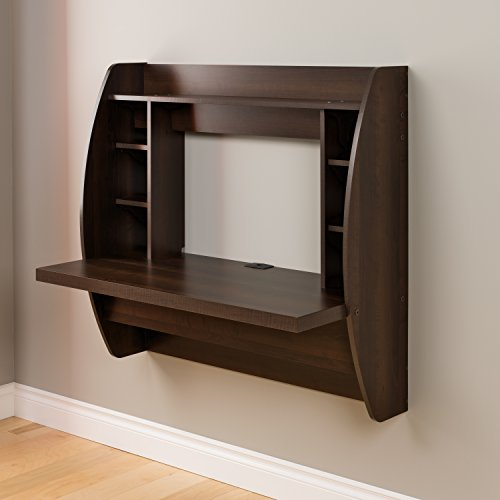 Product Image 3: Prepac Wall Mounted Floating Desk with Storage, Espresso
