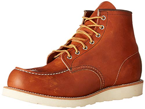 Red Wing Heritage Men's 6' Classic Moc Toe Boot, Oro Legacy, 9.5 M US