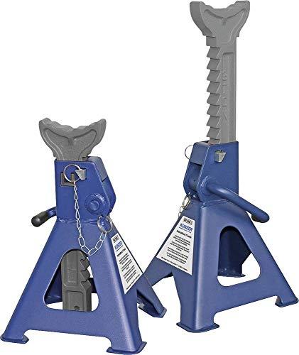 KUNZER (WK 3003.1) Unterstellbock im Paar – 2 Stück 3t Traglast - TÜV/GS Sicherheitsbolzen – Hub verstellbar 303-438 mm