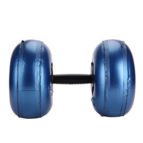 Alomejor Wasser Hantel Aerobic PVC Wasser befüllba Barbell Kurzhanteln für Aerobic Gymnastik und Fitness (8-10kg-Blau)