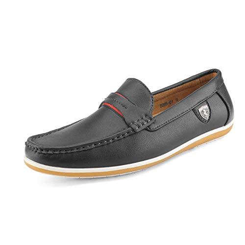 Bruno Marc Men's BUSH-01 Black Driving Loafers Moccasins Shoes – 9.5 M US