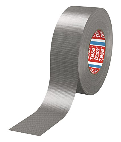 tesa® 4688 - 18 Rollen (Gewerbliches Gebinde), PE-extrudiertes Standard Gewebeklebeband, 50m x 50mm, silber