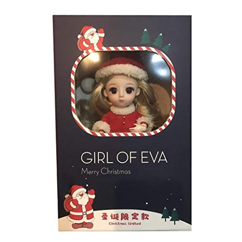 Elevin(TM) Fashion Girl Joint Doll Simulator 3D Doll Embrace Gift Exquisite Soft Christmas ChristmasToy for Chirdren