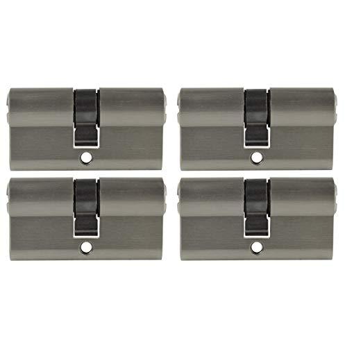 4x Zylinderschloss gleichschließend 60 mm 30x30 mit 10 Schlüssel