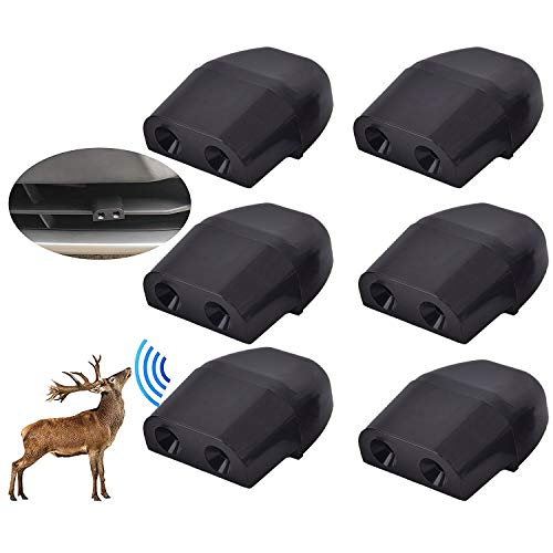 Niteguy 6 Pack Deer Whistles Car Dual Construction,Car Warning Devices Applicable for All Cars, SUV's, Trucks, Motorcycles, ATV's and More Vehicles (Black)
