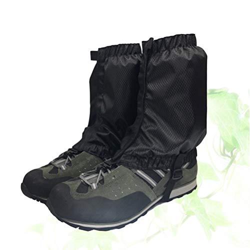 VORCOOL 1 Paar Schnee Gamaschen Leichte Wasserdichte Knöchel Gamaschen für Outdoor Wandern Klettern (Schwarz) - 3