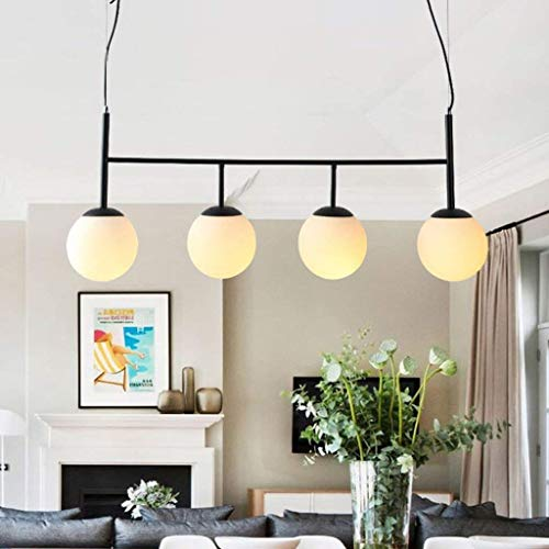 Reiniger glazen lampenkap kroonluchter, moderne minimalistische Magic Bean lamp tafel restaurant woonkamer werkkamer hangende lichten (kleur: A)
