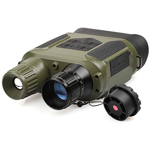 QUNSE Nachtsichtgerät, 7-Fach Nachtsicht Fernglas von 400m in Dunkelheit, 640x480p HD Fotokamera-Videorecorder, 31mm Objektiv Digitales Nachtsichtgerät mit 4-Zoll-Großbildschirm und 32G Speicherkarte