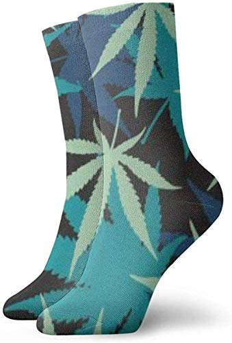 tyui7 Weed Leaf Green Dress Chaussettes Chaussettes drôles Chaussettes folles Chaussettes décontractées pour garçons Garçons