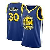 Hombres Camiseta de Golden State Warriors No.30 Curry Transpirable Bordado Baloncesto Swingman Jersey (Color : Dark Blue, Size : S)