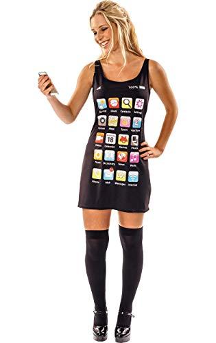 ORION COSTUMES Handy Telefon Mobiltelefon Kleid Kostüm Karneval Fasching Verkleidung Damen