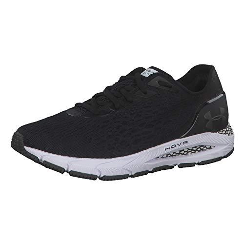 Under Armour Women's HOVR Sonic 3 Running Shoe, Black (001)/White, 8.5