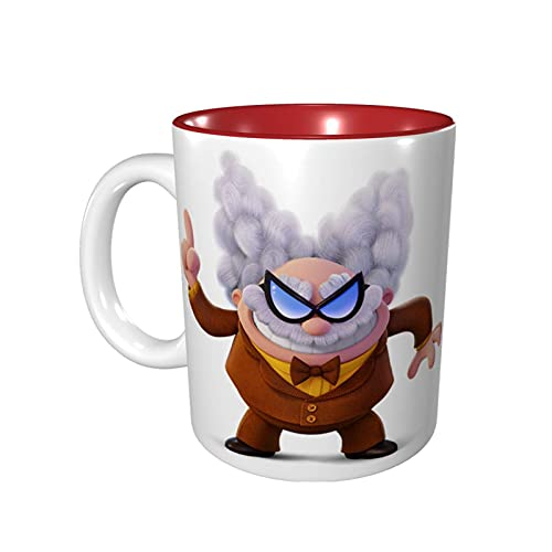 Hdadwy Taza de café divertida de 11 onzas Captain Under-Pants Taza de Melvin Taza de té Taza de té Apto para microondas Rojo