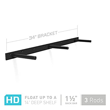 34  Long Heavy Duty Floating Shelf Hardware - Fits a 36  to 39  Shelf - Manufactured in USA