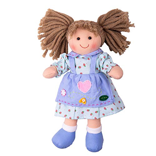 Bigjigs Toys Poupée 28cm Grace | Jouet Enfant | Jeu Traditionnel Enfant | Nounours | Jouet Enfant | Cadeau Enfant | Jouet pour Fille