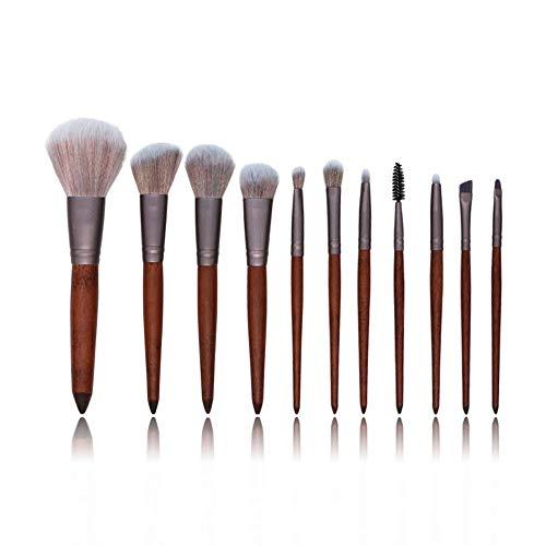 Pinceaux 11 PCS Pinceaux De Maquillage Ensemble Poudre Fondation Fard À Paupières Brosse Maquillage Kits Beauté Cosmétiques Outils Naturel Synthétique Cheveux Beauté du visage