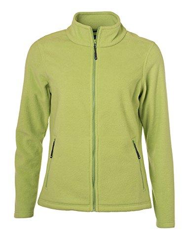 James & Nicholson Damen Fleece Jacke, Grün (Lime-Green), 34 (Herstellergröße: S)