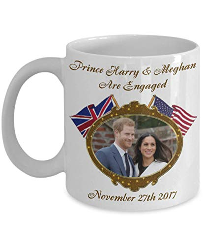 NA El príncipe Harry y Meghan están comprometidos Taza de café Conmemorativa...