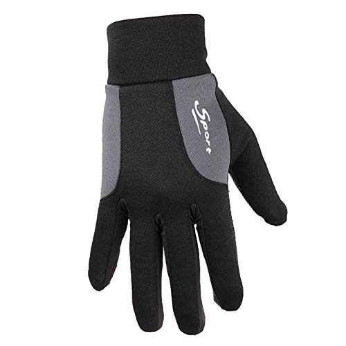 Blisfille Guantes de Golf Guantes Moto Naranja Guantes Invierno Impermeables Guantes Cuero,Gray,Guantes M
